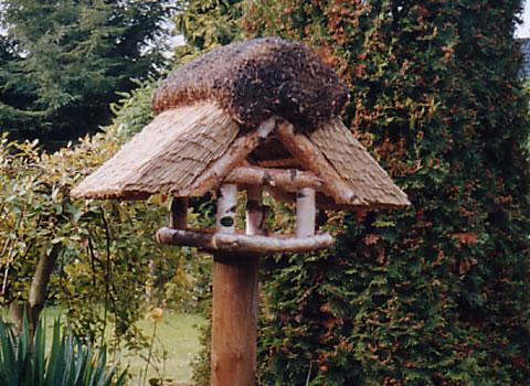 Vogelhaus Birke eckig